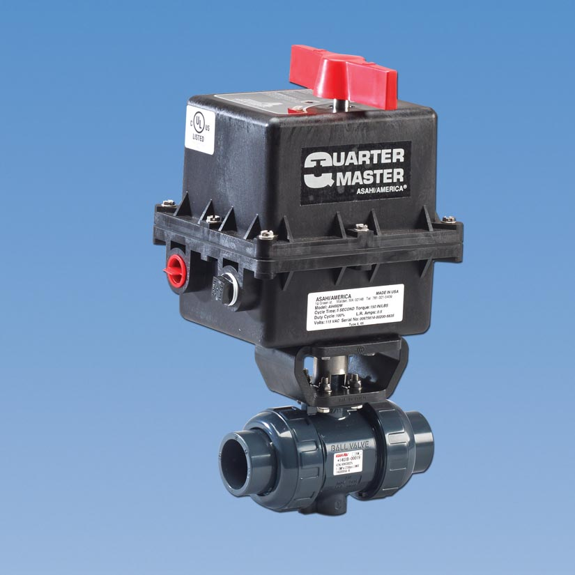 Banjo Electric 3 Way Directional Ball Valve: Type-21 Actuated Plastic Ball Valves