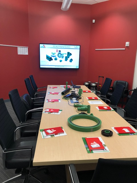 Asahitec Lunch and Learn Setup