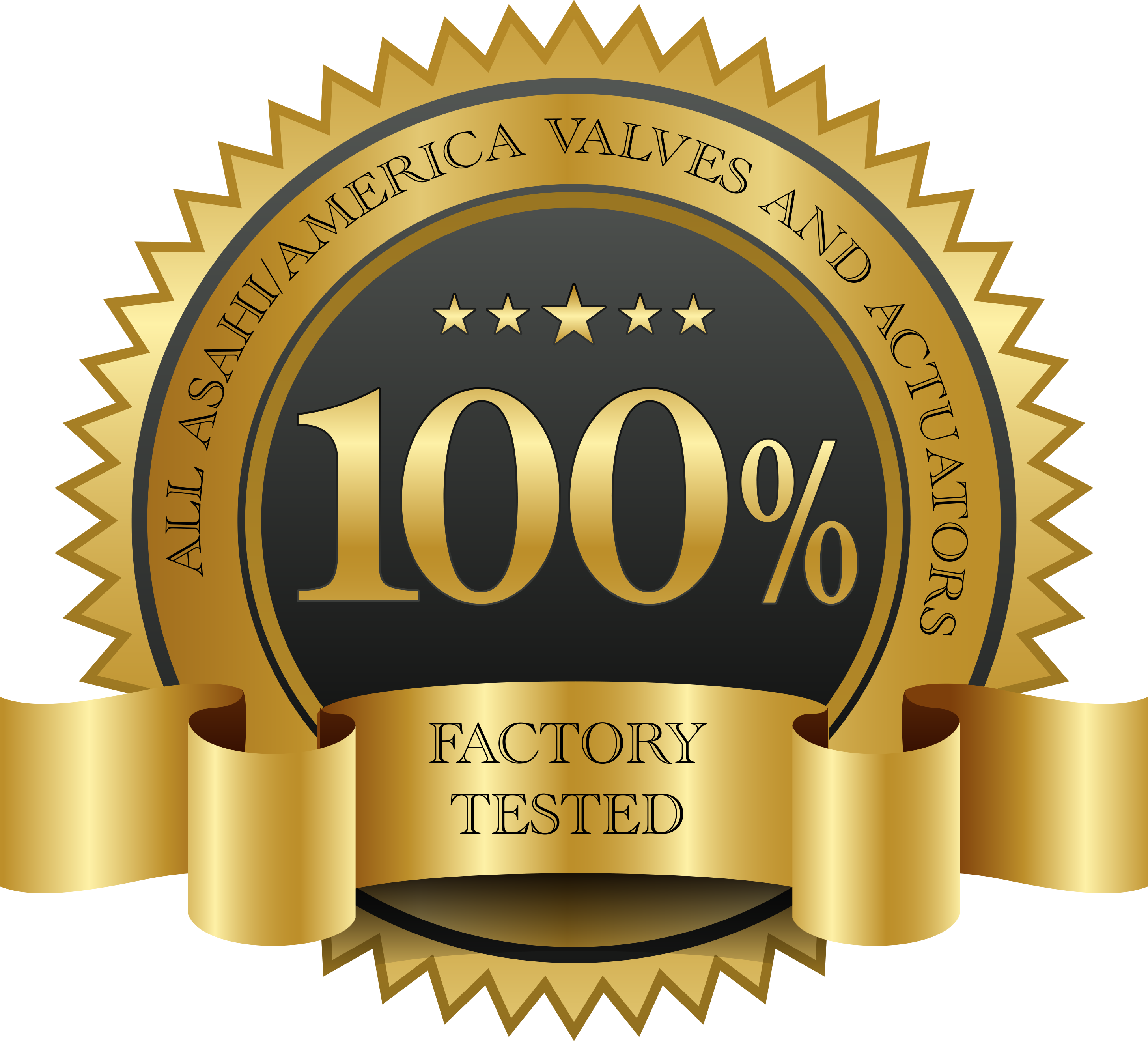 Factory tested logo