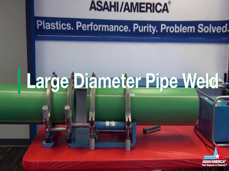 Soldadura de tubos de gran diámetro, el minuto de Asahi