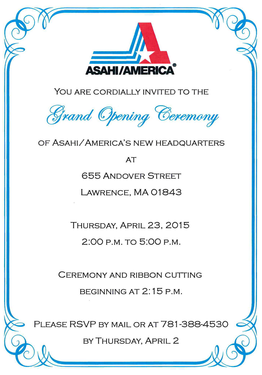 Asahi Lawrence Grand Opening Celebration