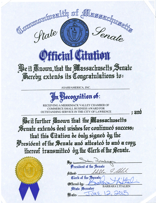 Premio del estado de Massachusetts 2015