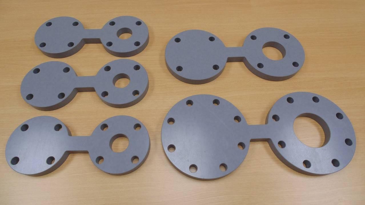 Placas de distribución ciegas mecanizadas CPVC
