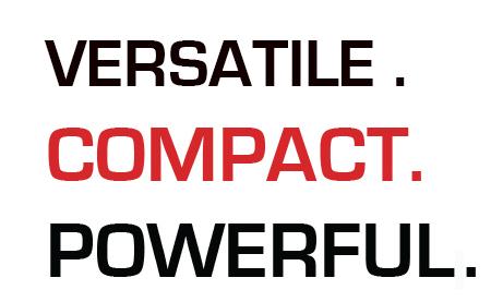 Versátil, compacto y potente